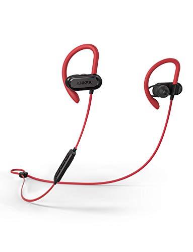 Soundcore Spirit X Bluetooth Kopfhörer, Bluetooth 5.0 Sport Kopfhörer mit IPX7 SweatGuard Technologie, 12 Stunden Akkulaufzeit, Super Halt und Fantastischem Sound, für iPhone, Samsung usw. (Rot)