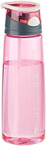 PEARL sports Wasserflasche: BPA-freie Kunststoff-Trinkflasche mit Einhand-Verschluss, 700 ml, pink (Trinkflasche mit Klappdeckel und Henkel)