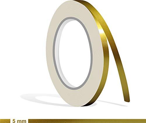 fen Gold metallic Glanz in in 5 mm Breite und 10 m Länge für Auto Boot Jetski Modellbau Klebeband Dekorstreifen ()