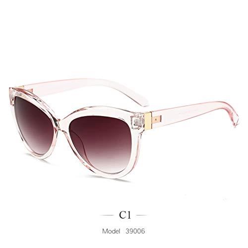 Daawqee NEW Oversized Sunglasses Women Luxury Vintage Sun Glasses Ladies Trend Big Frame Cat Eyewear UV400 C1