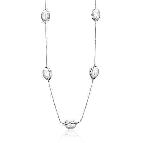 Collana lunga per le donne, collana ciondolo perla creata per le ragazze collana con catena in oro e argento regalo per mamma, amici (placcato argento)
