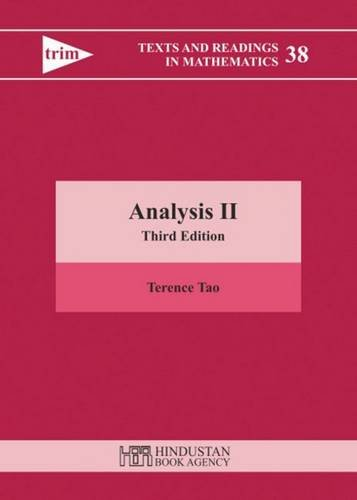 Analysis II (Texts and Readings in Mathematics)