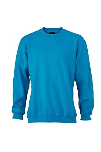 JN040 Round Sweat Heavy Sweatshirt Rundhals Pullover Übergröße Turquoise