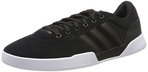 adidas Herren City Cup Skateboardschuhe, Schwarz Core Black/FTWR White, 43 1/3 EU - Adidas Skate-schuhe