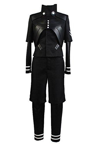 jeylu Tokyo Goule Ken Kaneki Combinaison bataille uniforme Cosplay Costume Taille - Noir - M