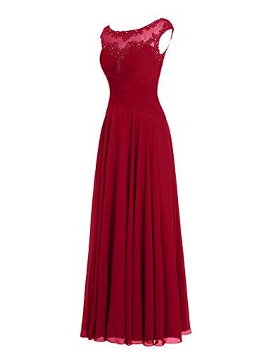 Dresstells, robe de soirée mousseline, robe longue de cérémonie, robe longueur ras du sol de demoiselle d'honneur Ivoire