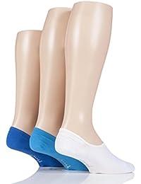 Herren 3 Paar Pringle Einfarbige Baumwolle PED-Socken