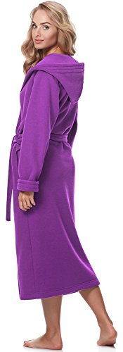 Merry Style Damen Bademantel mit Kapuze 3S4R3N4 Violett