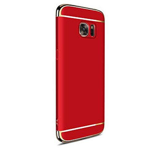 Kangrunmy- Coque pour Samsung Galaxy S7 Edge, Pc Chic Mode Housses éTuis Protective Cases Cover Accessoires TéLéPhones Portables Rouge