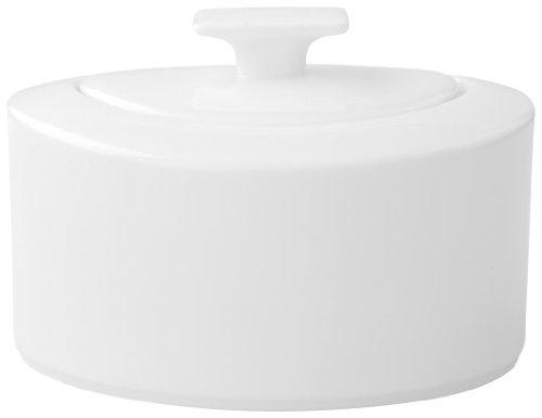 Villeroy & Boch 10-4510-0960 Modern Grace Zucker-/Marmeladendose, 0,33 l, Premium Bone Porzellan