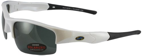 Blue Water Polarized Islanders Pearl Sunglasses (White Frame/Smoke Lens)