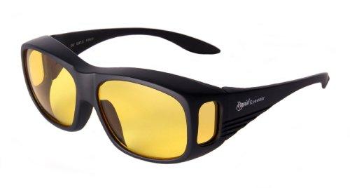 47b114c105 Rapid Eyewear SOBRE GAFAS NOCTURNAS CONDUCCION para hombres y mujeres. HD  gafas noche con lentes