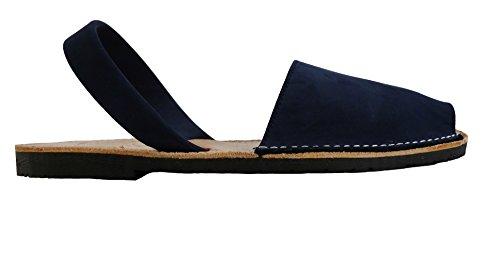 Authentische Menorcan Sandalen, für Männer, hombre Avarcas menorquinas, abarcas, sandalias Azul marino, nobuck