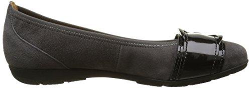 Gabor Shoes Sport, Ballerine Donna Multicolore (Dark Grey/Carbone 19)