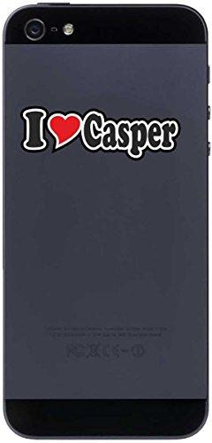 Preisvergleich Produktbild Aufkleber Decal Handyaufkleber Handyskin 50 mm Ich Liebe - I Love Casper - Smartphone Telefon Handy - Sticker mit Namen vom Mann Frau Kind