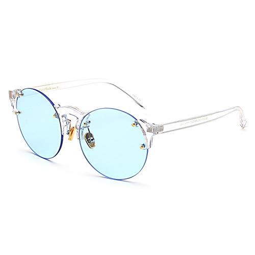 MINGMOU Randlose Klare Sonnenbrille Frauen Transparent Candy Farbe Orange Gelb Rot Mode Sonnenbrille Runde Männer Uv400