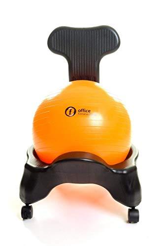 Ufficio fitness ball sedia schienale fisso modello con ball cover black