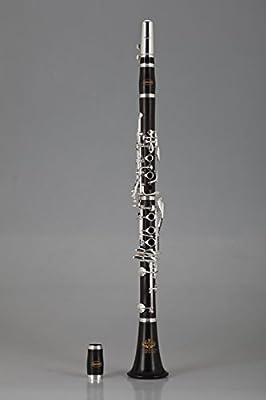 XIE@ Ébano pura plata clarinete Clarinete sintonía fina ? B guantes y limpieza de la grasa de corcho de tela destornillador de viento de madera