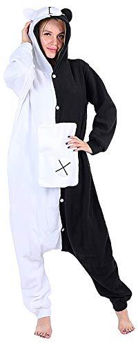 auguswu Damen Strampelanzug weiß/schwarz Gr. Small, weiß/schwarz