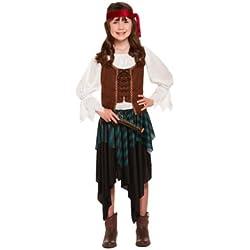 Traje para niña de Pirata del Caribe, (7-9 años)