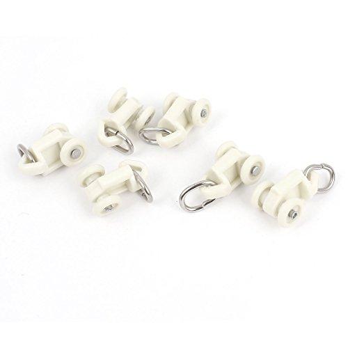 sourcing map 6 Stk 0,4'10mm Durchm. Oval Ring End Kunststoff Vorhang Laufrolle Weiß de DE de