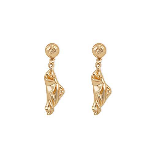 WY-SPEH Europäische und amerikanische Mode Metall einfache graue Perle Ohrringe Ohrringe asymmetrische Ohrringe,Metallic (Gold Ohrringe Perle Graue)