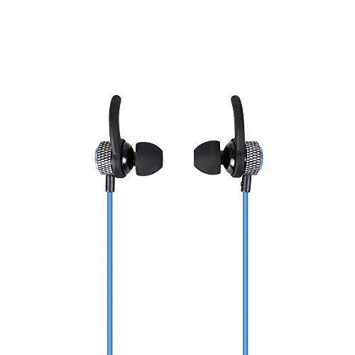 Danny® Bluetooth Kopfhörer, Wireless 4.2 Magnetische Ohrhörer aptX Stereo Ohrhörer, IPX5 Spritzwassergeschützte, sichere Passform für Sport mit eingebautem Mikrofon, Blau (Bluetooth-stereo-kopfhörer-boom)