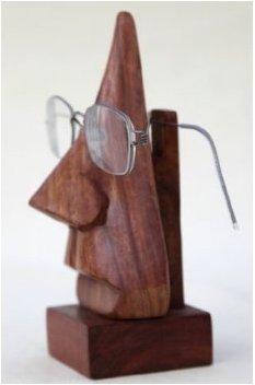 Intagliato a mano elegante palissandro-Nose forma degli occhiali spettacolo titolare unico display...