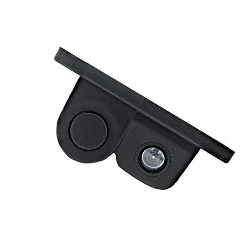 31wAaNtNv5L - Luckiests 2 en 1 Auto estacionamiento del sensor del sonido de alarma del revés del coche del vídeo de copia de seguridad del coche granangular de alta definición marcha atrás cámara de visión trasera
