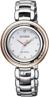 Citizen Ecodrive EM0668-83A - Reloj para Mujer Bicolor Esfera Blanca