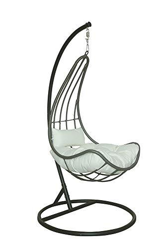 Home Deluxe - Polyrattan Hängesessel - Cama mit Regenabdeckung - inkl. Gestell, Sitz- und Rückenkissen -