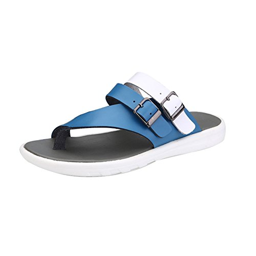 H&W Modeable Herren Outdoor Sommer Slip On Flip Flops Blau
