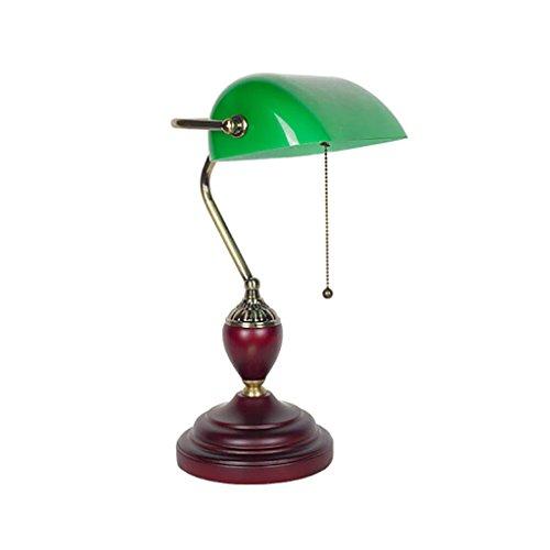 CLOTHES UK- Tischlampe Grün Abdeckung Bank Tischlampe Retro Schlafsaal Lesen Studie Schreibtischlampe Table Lamp (Rustikale Steckdosen-abdeckungen)