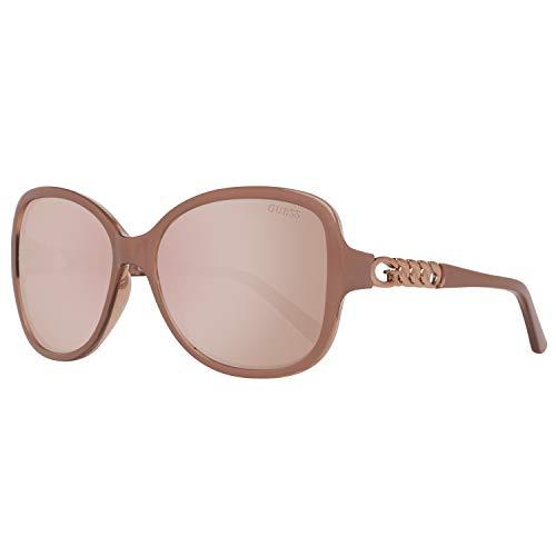 Guess Damen GU7452-5972G Sonnenbrille, Braun (Cream), 59