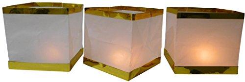 10 Stück Wasserlaterne Schwimmlaterne Schwimmkerzen Lampion Laterne Teelicht Kerze Windlicht Weiß Schwimmlicht (Schwimmende Lotus Kerzen)