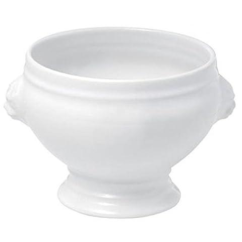 lot de 8 mini mini soupiere blanches tete de lion à Dragées en Céramique couleur blanc - ballotin a dragées en céramique - boite à dragée design moderne - pour baptême mariage communion