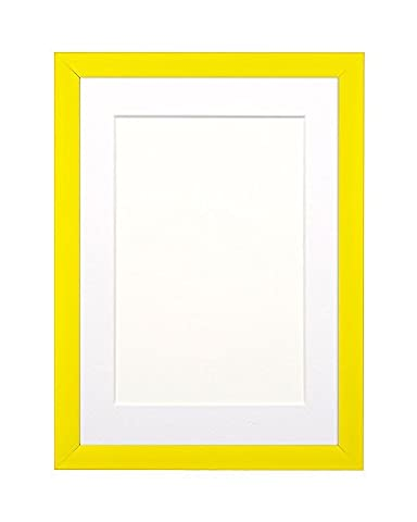 Yellow Rainbow Color Range Picture/Photo/Poster frame with White Mount- With a High Clarity Styrene Shatterproof Perspex Sheet- Size- 9