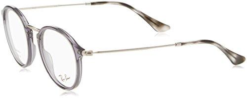 Preisvergleich Produktbild Ray-Ban Herren Brillengestell Round Fleck,  Schwarz (Negro),  49