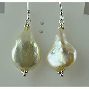 Barock Perlen Ohrringe, Perlenohrringe, 925 Sterling Silber Perlenohrring