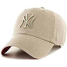Gorra 47 Brand – Mlb New York Yankees Clean Up Curved V Relax Fit caqui talla
