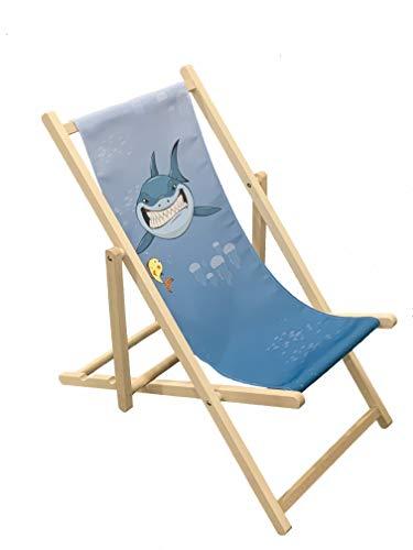 Buchenholz-lagerung (Shark-Holz Terrassendielen Stuhl faltbar für Kinder Outdoor Garten Terrasse Balkon Camping)
