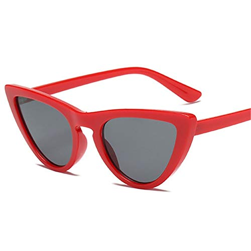 MOJINGYAN Sonnenbrillen,Retro Cat's Eye Männer Frauen Sonnenbrille Catseye Style Sun Slasses Damen Brillen Uv400 Brillen Rot