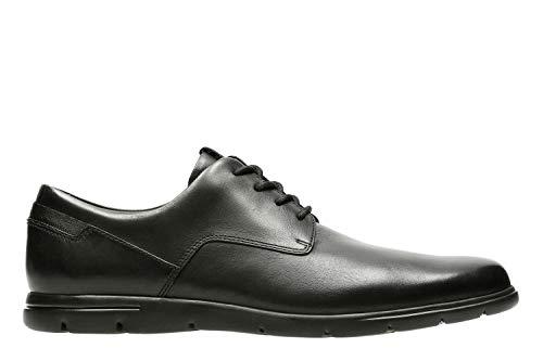 Clarks Men's Vennor Walk Derby, Schwarz (Black Leather), 44 EU