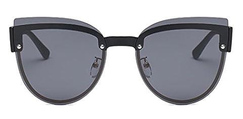JJH-ENTER Des lunettes de soleil Créatif Frameless Lumière polarisée Des lunettes de soleil mode Branché Des lunettes de soleil , black grey