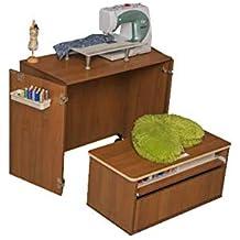 Comfort NEXT | Mueble para máquina de coser | Armario de costura | (Beech Ellmau