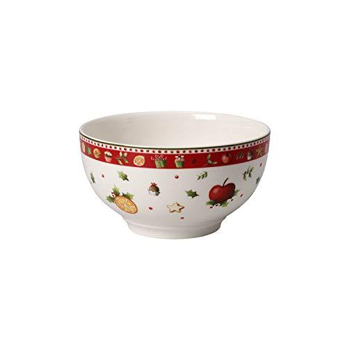 Villeroy & Boch Winter Bakery Delight Bol, Porcelaine Premium, Blanc/Rouge