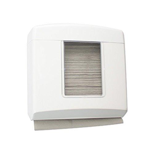 MIDI–Dispensador de toallitas de papel plegadas–plástico–blanco