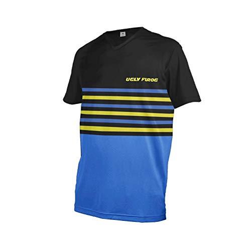 Uglyfrog Herren Downhill Jersey, MTB Männer T-Shirt,Mountainbike/Motocross Atmungsaktives Und Schnell-Trocknend Kurzarm/Lange Ärmel-Trikot, Enduro/Offroad/Gelände/Quad Cross Kleidung DEHerDownJK05