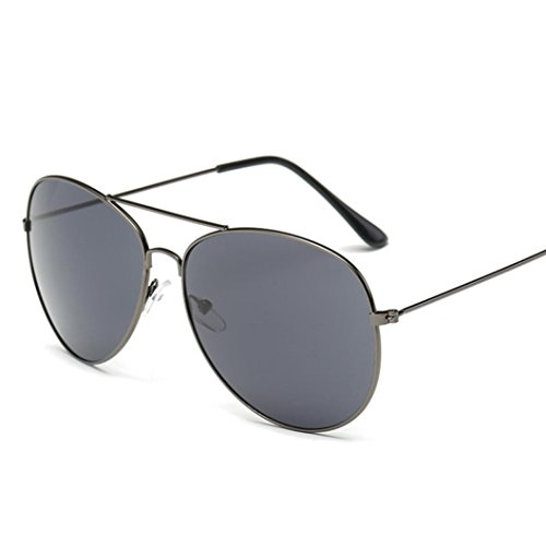 URSING Unisex Männer Frauen Platz Vintage Gespiegelte Sonnenbrille Brillen Eyewear Travel Sonnenbrillen Nachtsichtbrille Outdoor Sport Glasse Sunglasses Damenbrillen Herrenbrillen Retro Brille (A)
