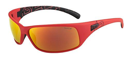 Bollé Sonnenbrille Recoil, Matte Red /Ack/Polarized Fire Oleo, 12127